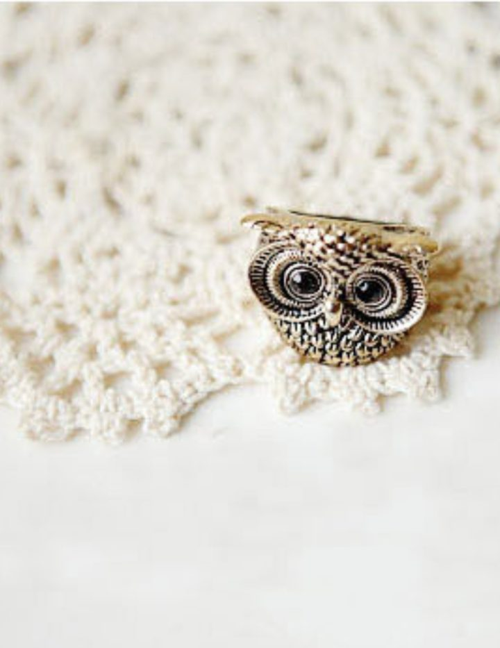 Fashion Vintage Retro Style Owl Shape Ring