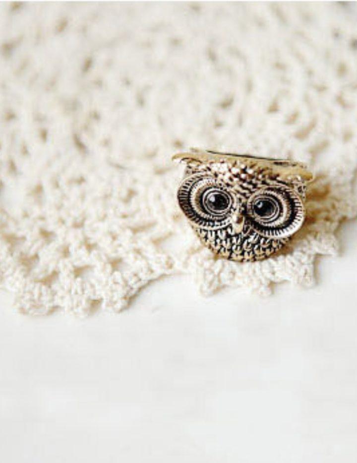 Fashion Vintage Retro Style Owl Shape Ring