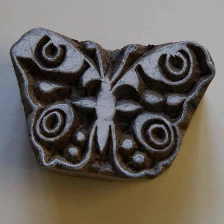 butterfly wood block stamp