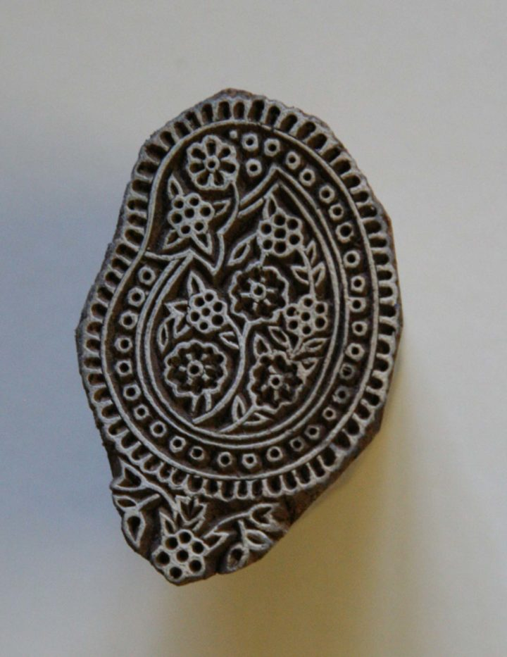 Floral wood block stamp x-small