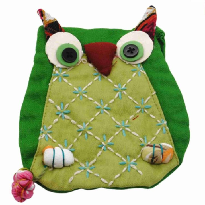 green owl purse