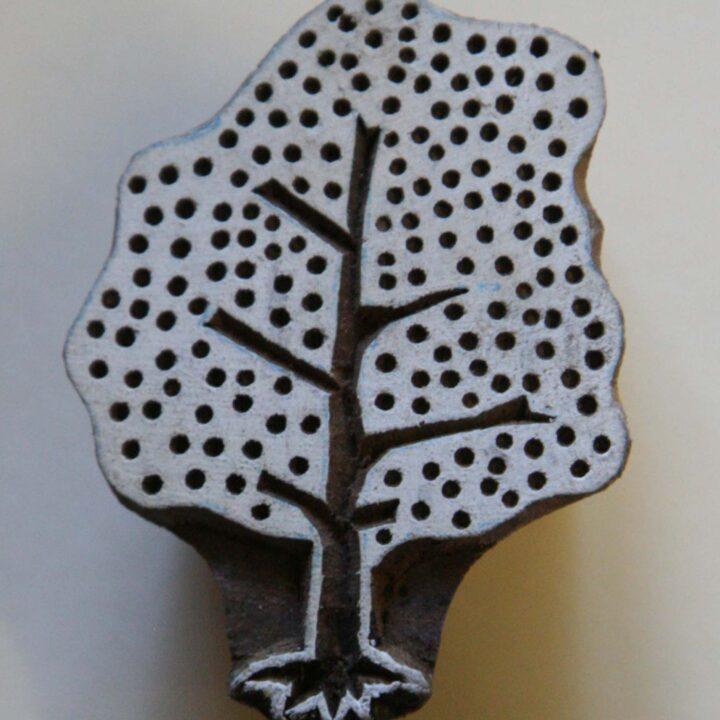 Tree – Hand Carved Wood Block Stamp