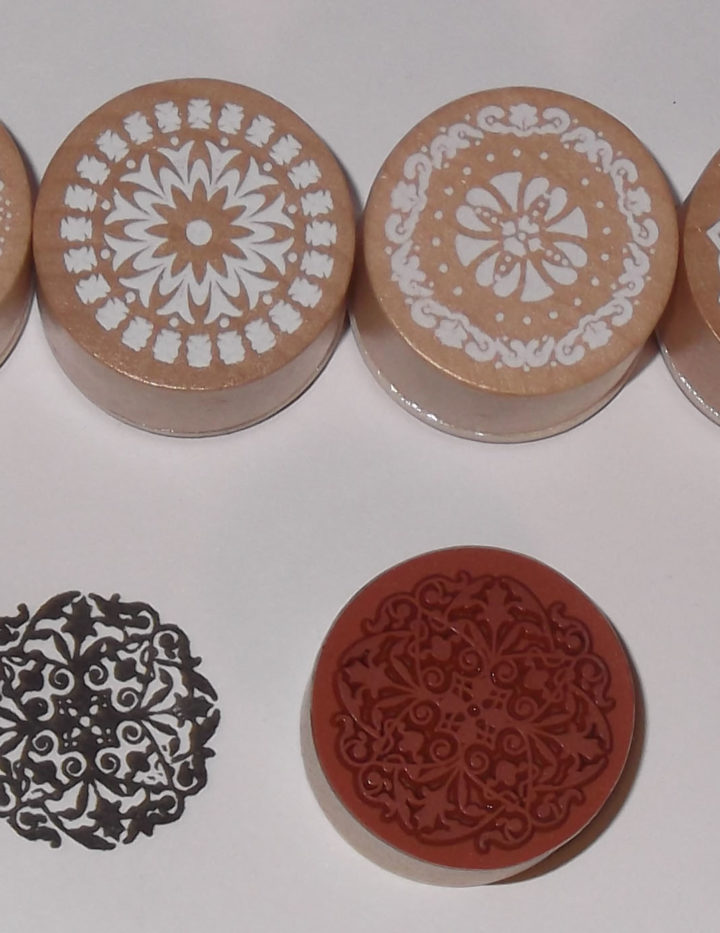 Wood Stamp detailed patterns- pack of 5