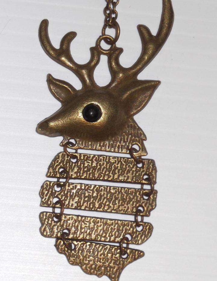 Ladies Fashion Deer Pendant Necklace