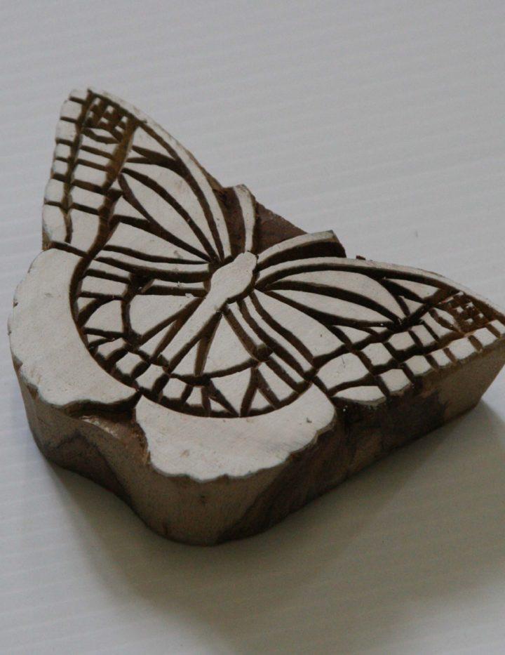 Butterfly Stmp - Wood Block