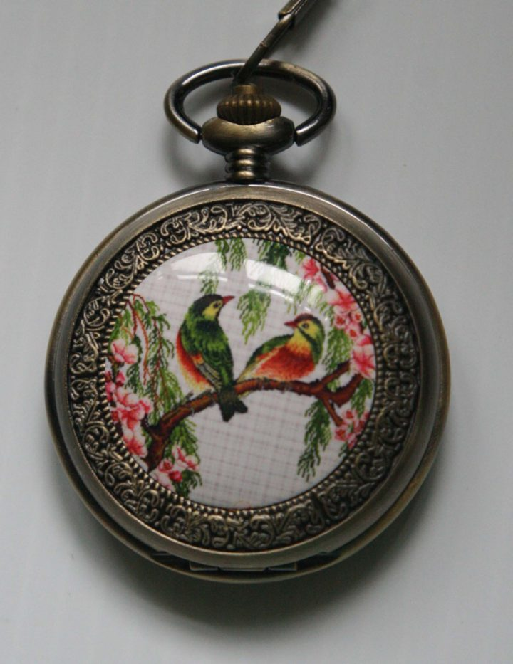 Antique Bird Pocket Watch