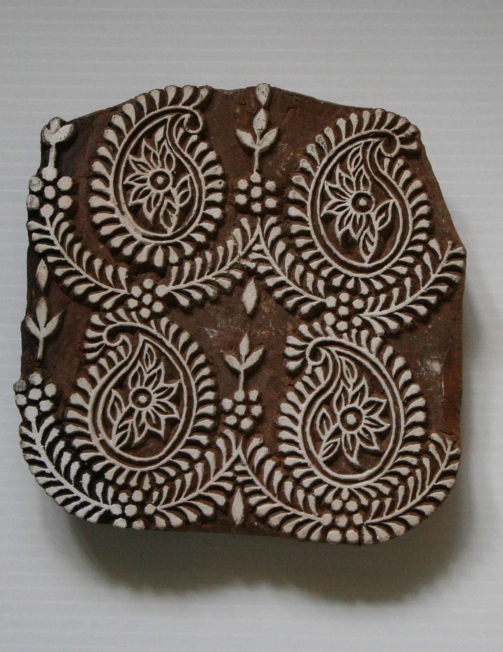 Paisley Wood Block Stamp
