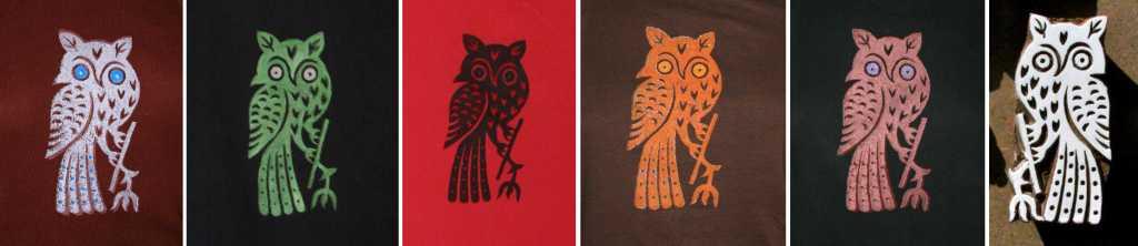 Wood Block Printing - Owls