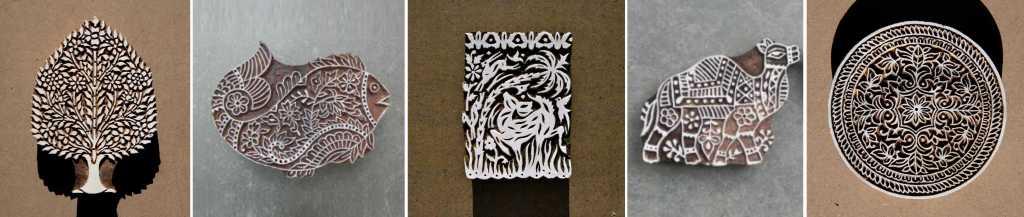 Wood Block Printing Stamps