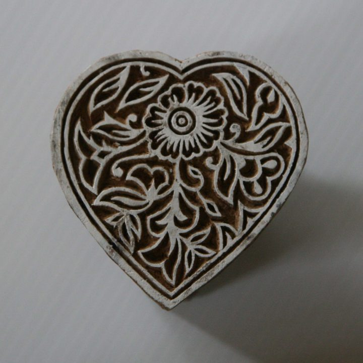 Heart Stamp Wood Block