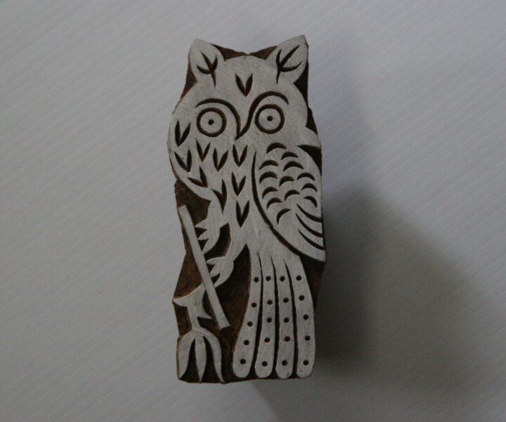 owl stamp - back of stamp