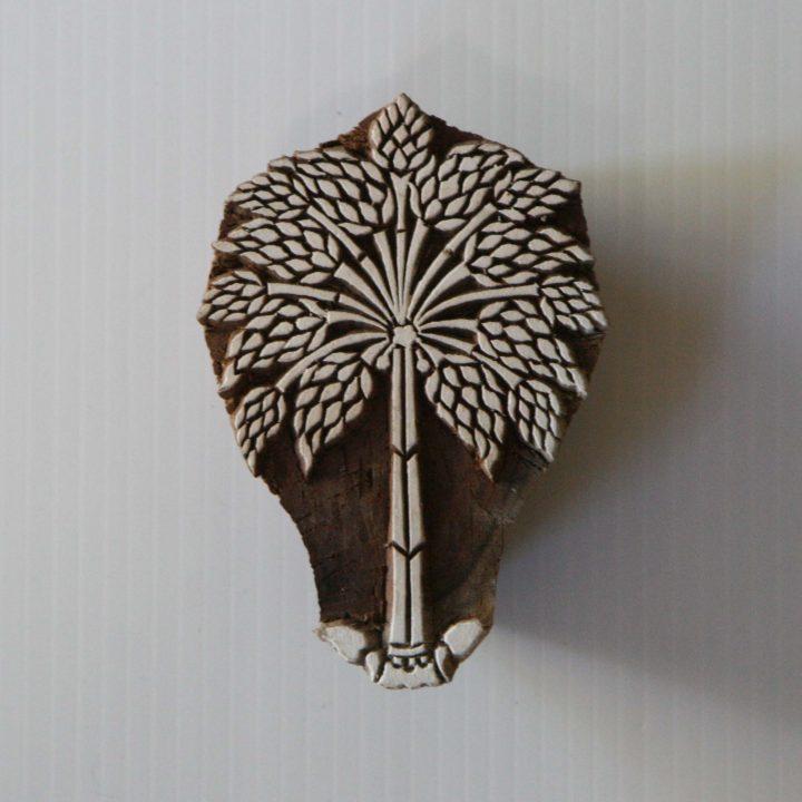 Hand Carved Wood Block Printing Stamp