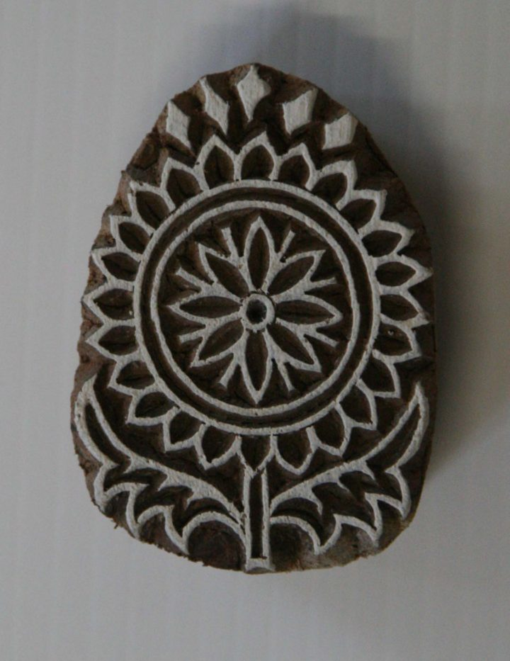 Indian Flower Stamp - Wood Block