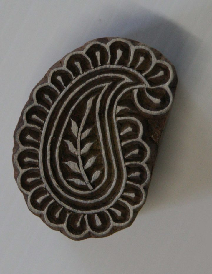 paisley wood stamp