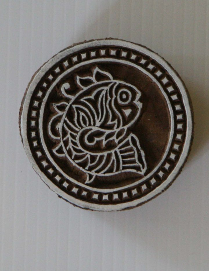 Round Fish Stamp - Wood Block Printing Stamp