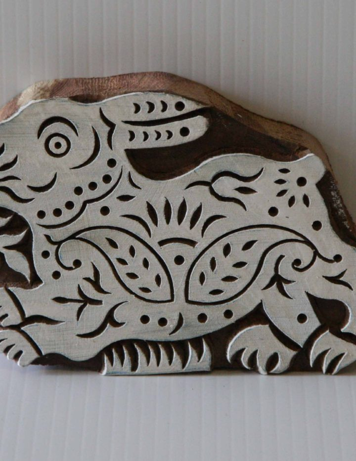 Wooden Stamp - Rabbit Indian Textile Wood Block Printing Stamp