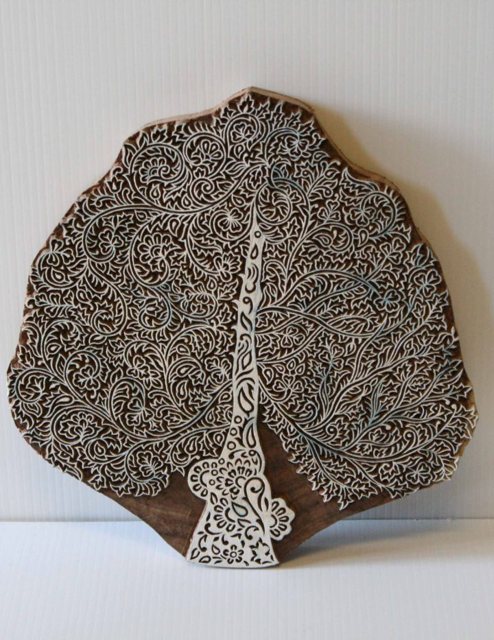 Indian Wood Stamp - Tree - Wood Block - Design 5
