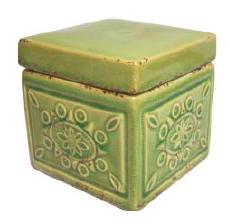 Green Square Jar