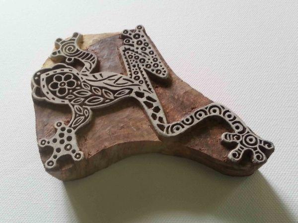 Frog Stamp Indian Wood Block - Hand Carved Stamp