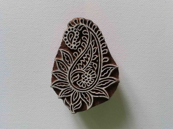 Paisley Stamp - Wood Block Printing Stamp - Hand Carved - India - #4