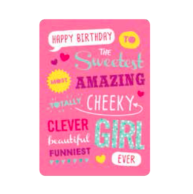Amazing Girl Birthday Card