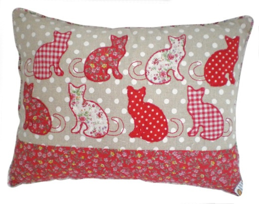Cat Cushion Patchwork