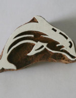Dolphin Stamp - Indian Hand Carved Wood Block