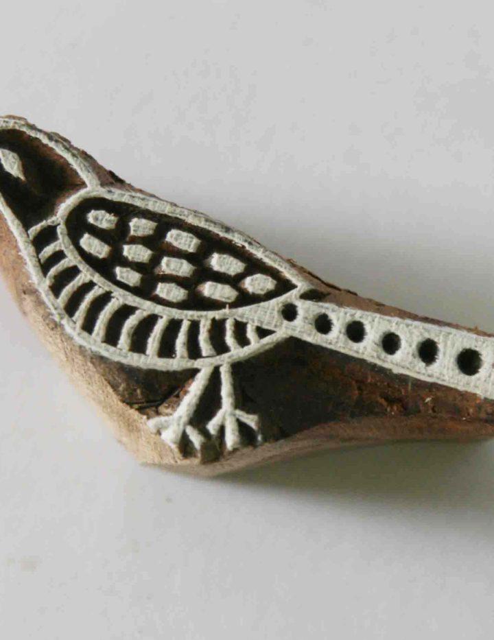 Bird Stamp – Indian Wood Block Printing Hand Carved Stamp #4
