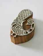 Peacock Stamp - Indian Hand Carved Wood Block #3