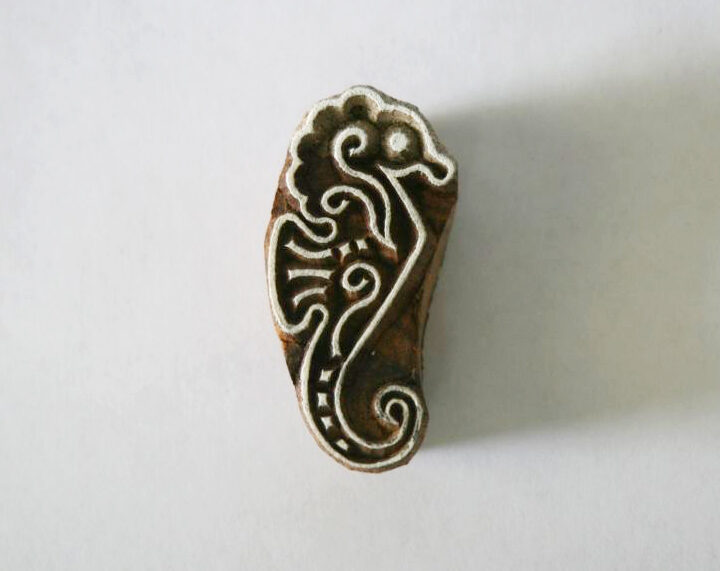 Seahorse Stamp - Indian Hand Carved Wood Block