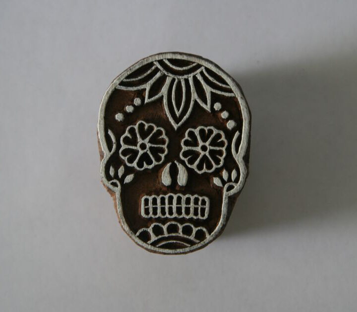 Sugar Skull Stamp Day of the Dead