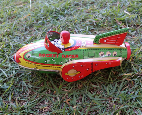 Rocket Racer Tin Toy