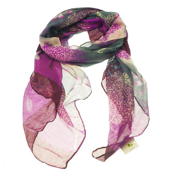 tree scarf purple
