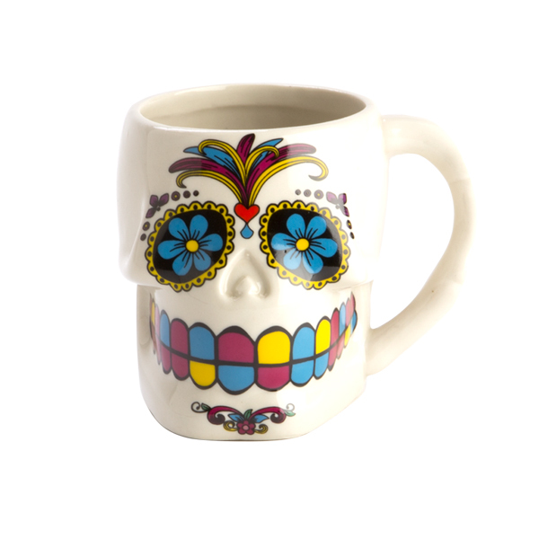 Skull Mug Day of the Dead