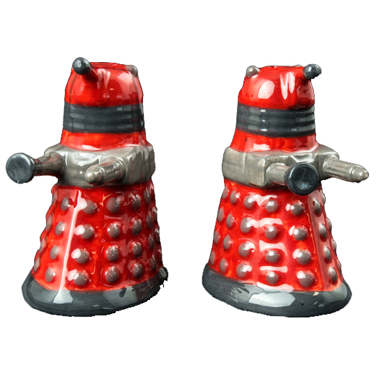 Doctor Who Dalek Salt and Pepper Shakers