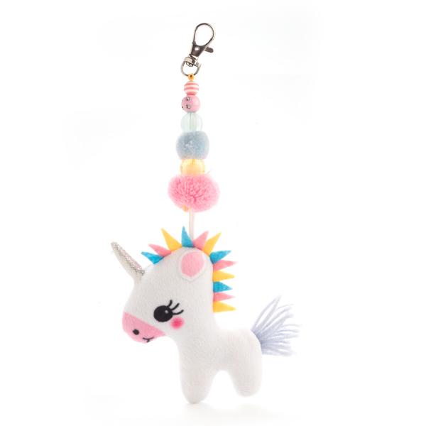 Unicorn Keyring Pom Pom