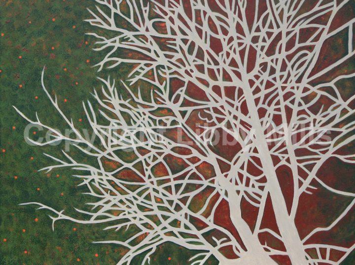 Painting - Tree - Green - Dancing Tree