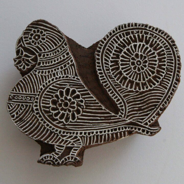 dove hand carved wood stamp
