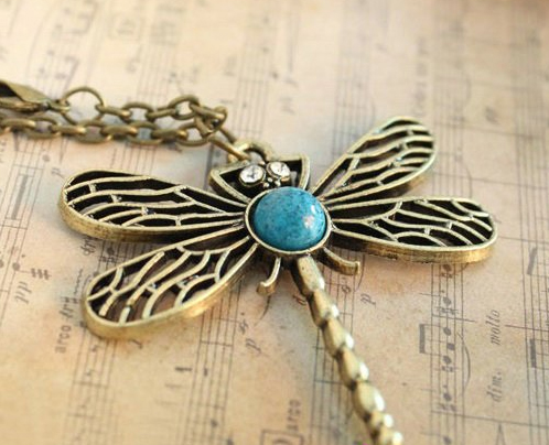 Dragonfly Necklace Pendant | Gift | Gilberts Tree