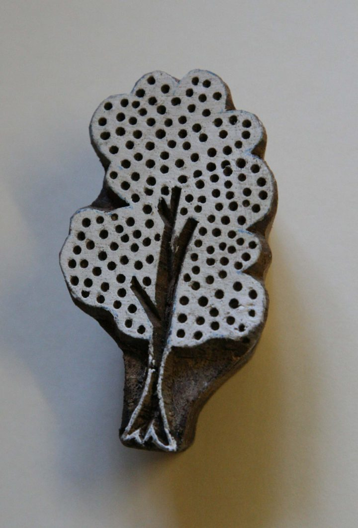 Tree – Hand Carved Wood Block Stamp – Design 3