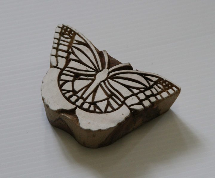 Butterfly Stmp - Wood Block