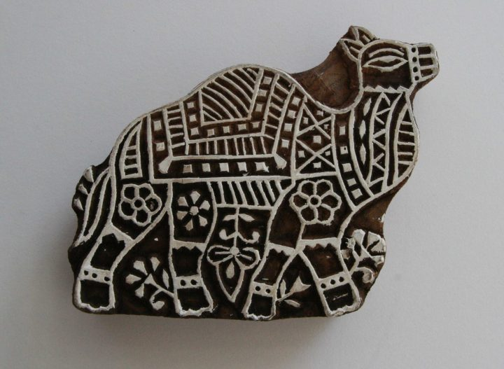 Camel Wood Block Print Stamp - Indian