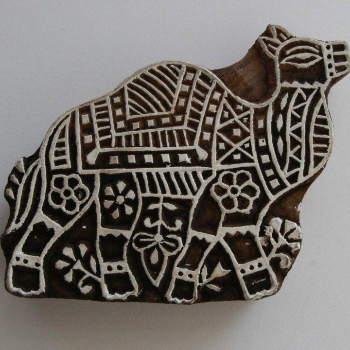 Camel Wood Block Print Stamp - Indian