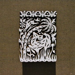 Elk Hand Carved Wooden Stamp - Wood Block India