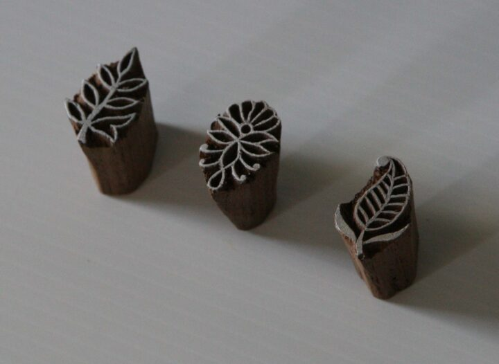 leaf wood block stamps