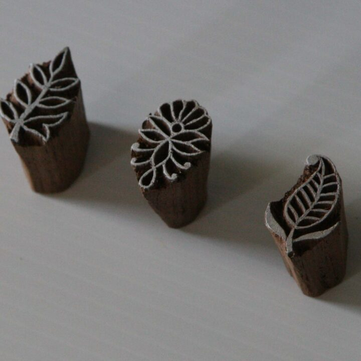 leaf wood block stamps