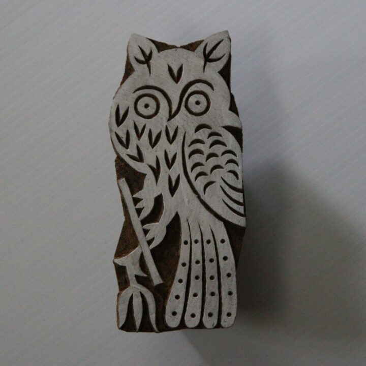 owl stamp - back of stamp