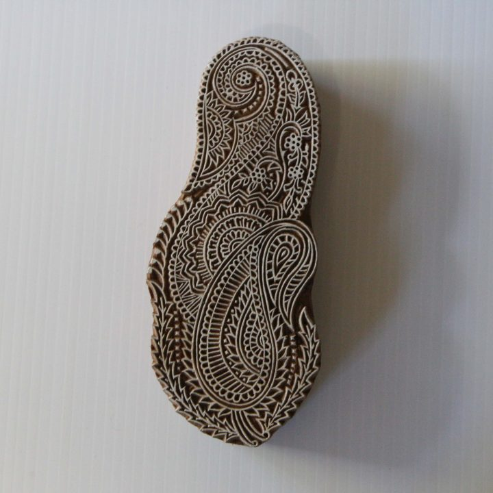 Paisley - Indian Wood Block - Hand Carved Stamp - Paisley Abstract Design