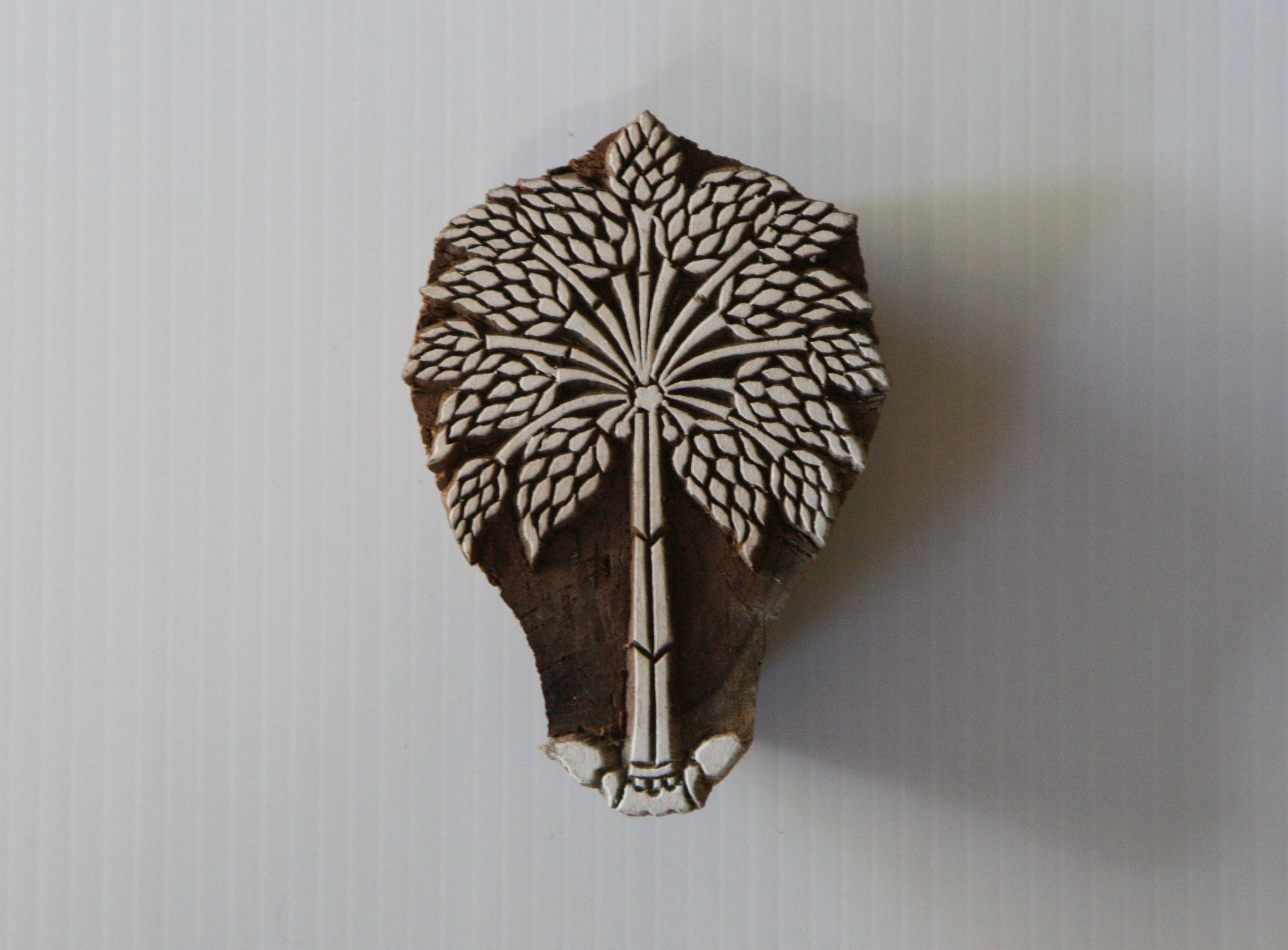 Tree Stamp Hand Carved Wood Block Printing Stamp India