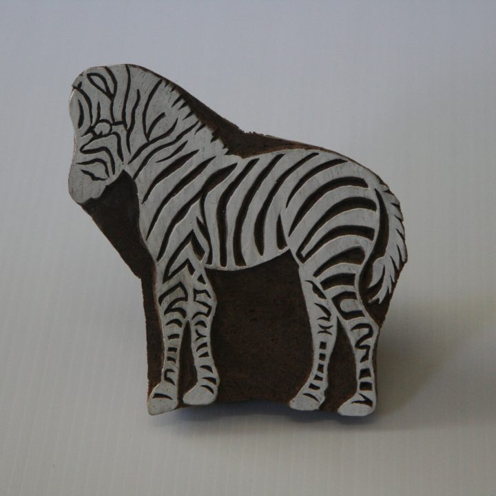 Zebra Stamp Wooden Block – Hand Carved India